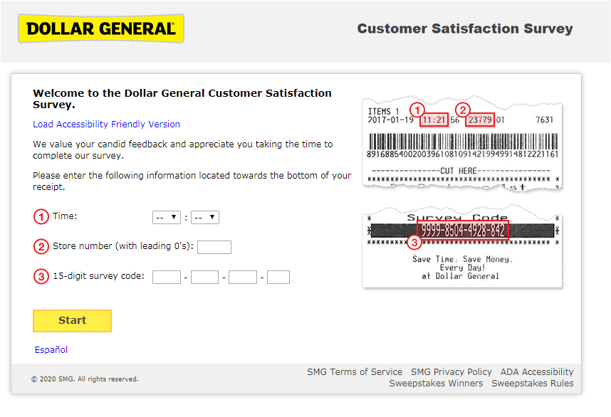 Dollar General Guest Experience Survey 2020