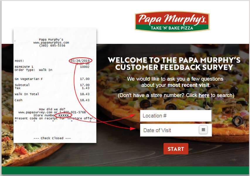 Papa Murphy's Customer Experience Survey