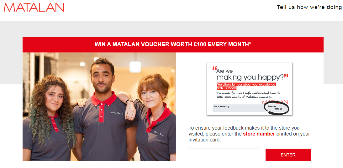 Matalan Guest Experience Survey