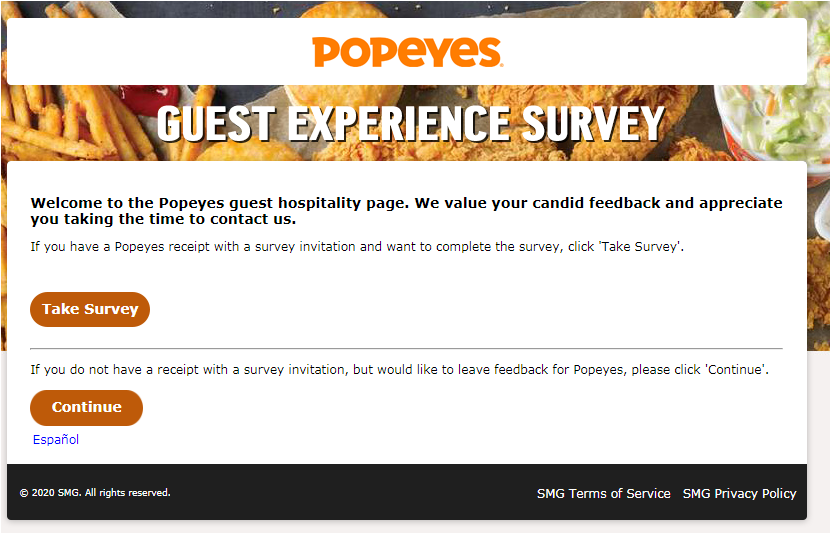 www.tellpopeyes.ca validation code