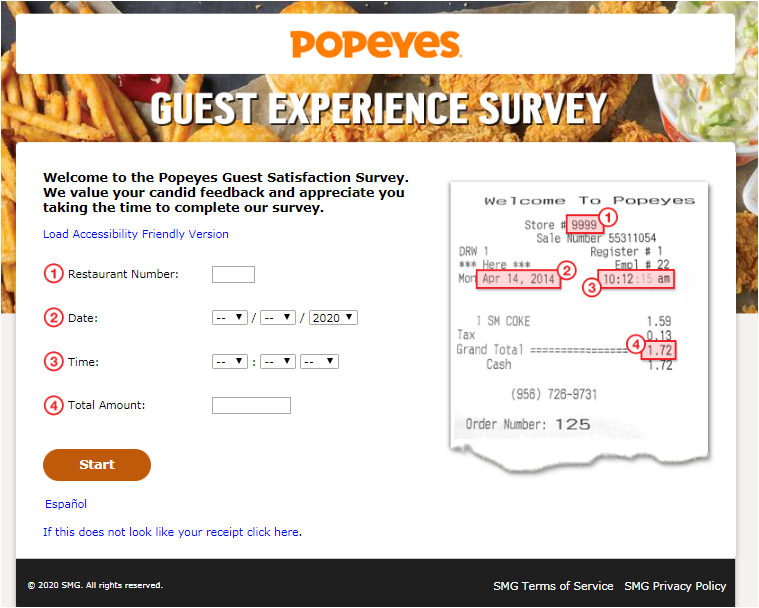 Popeyes Customer Experience Survey