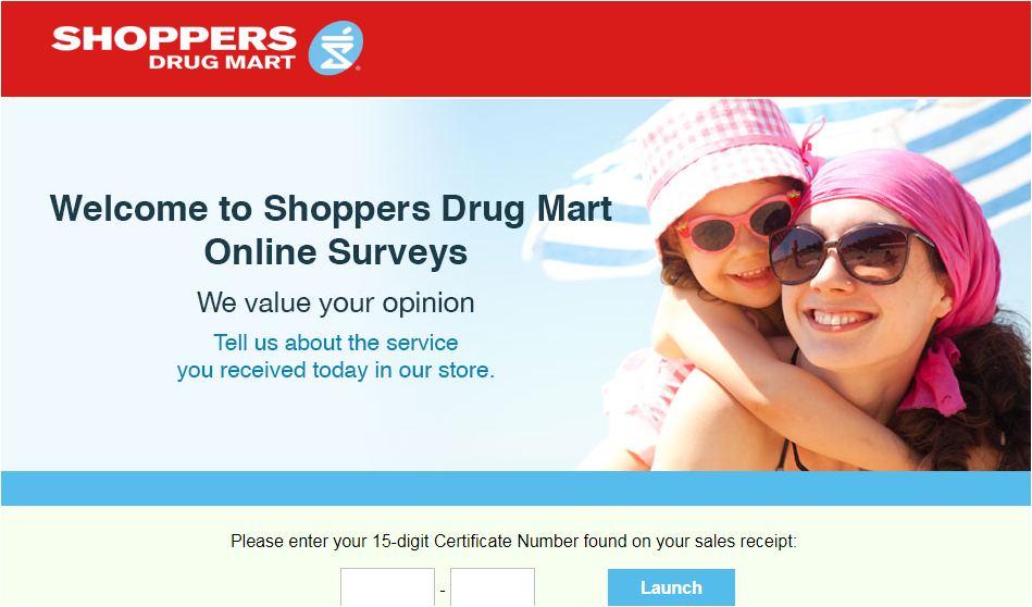 Shoppers Drug Mart Customer Feedback Survey