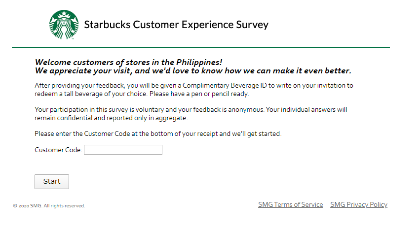 Starbucks Coffee Survey